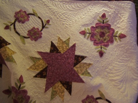 My rose applique quilt