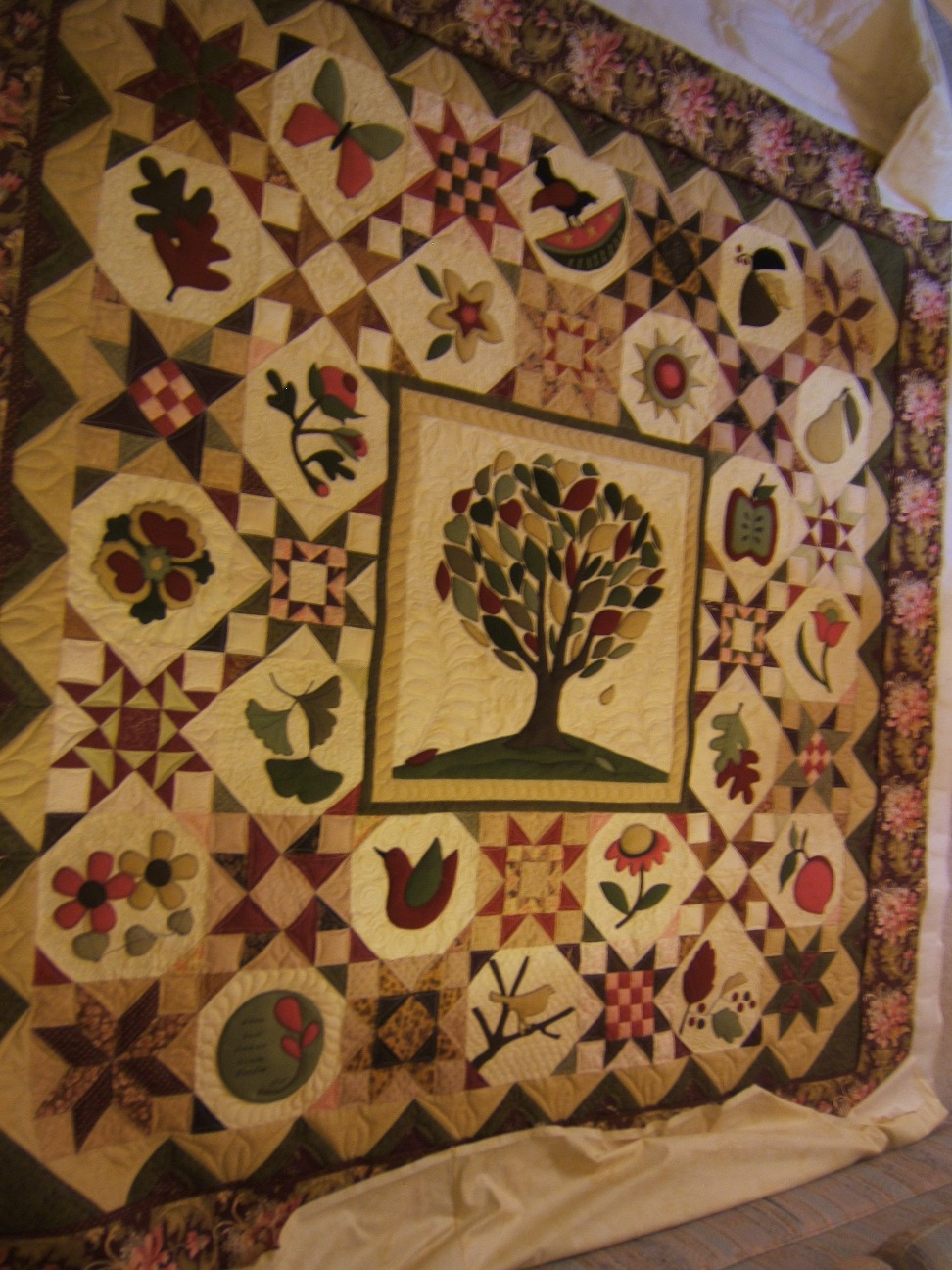 Tree Of Life Applique Quilt Custom Quilts Of Joy