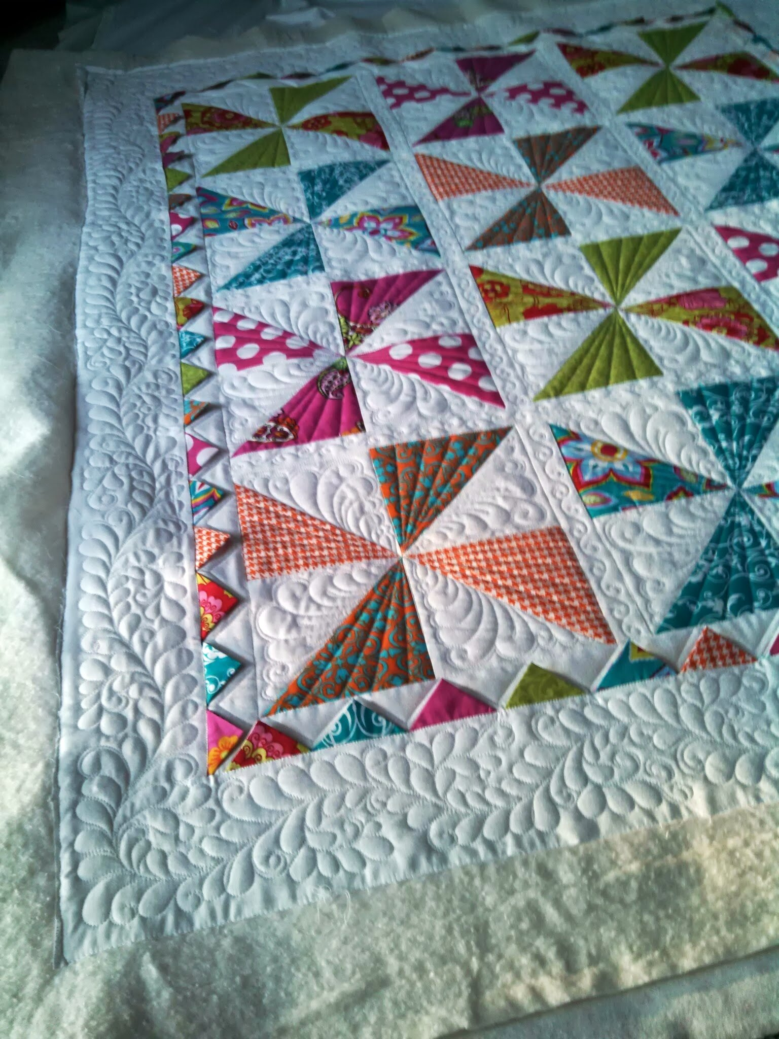 Adorable Baby Quilts Pinwheels And Log Cabins Custom