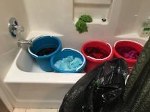4 smaller buckets